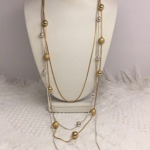 Jewelry - ❤️ Gold/Silver Tone Chain 4 Layer Bead Necklace